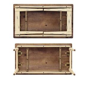 「Rosieロージー」ウォールナット木製センターテーブル収納付き棚付きローテーブルアンティーク北欧ヴィンテージ家具風レトロモダン幅90cm高さ50cm