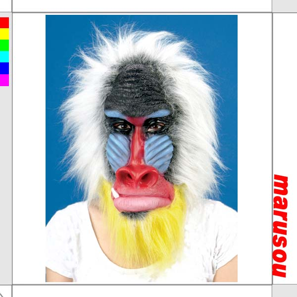 mandrill-painted welding mask