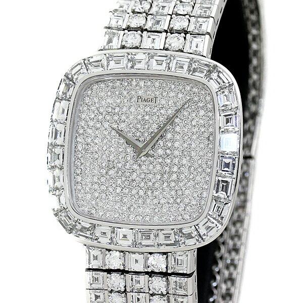 豪華!ピアジェ PIAGET メンズ腕時計 全面純正フルダイヤ K18WG バケットダイヤ ハイジュエリーウォッチ 手巻き