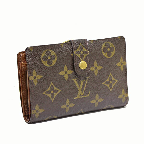 ルイヴィトン LOUIS VUITTON モノグラム ポルトフォイユヴィエノワ 二つ折り財布 がま口 M61663