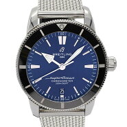 日本限定100本!ブライトリング BREITLING スーパーオーシャン ヘリテージ B20 ブルー文字盤 メンズ腕時計 AB2030 自動巻き 保証書付き