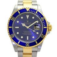 ロレックス ROLEX サブマリーナ デイト 16613 青サブ メンズ腕時計 SS/YG ブルー文字盤 P番