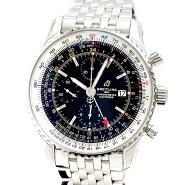 未使用! ブライトリング BREITLING ナビタイマー1 クロノグラフGMT46 ブラック文字盤 A24322121B2A1 自動巻き SS メンズ腕時計 定価79万円