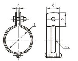 アカギAKAGIステン吊バンド32A【A10198-0043】配管支持金具吊配管金具(P25Jun15)