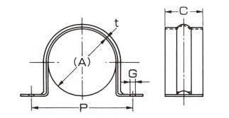 アカギAKAGIステンサドル40A【A10452-0074】配管支持金具サドルバンド(P25Jun15)