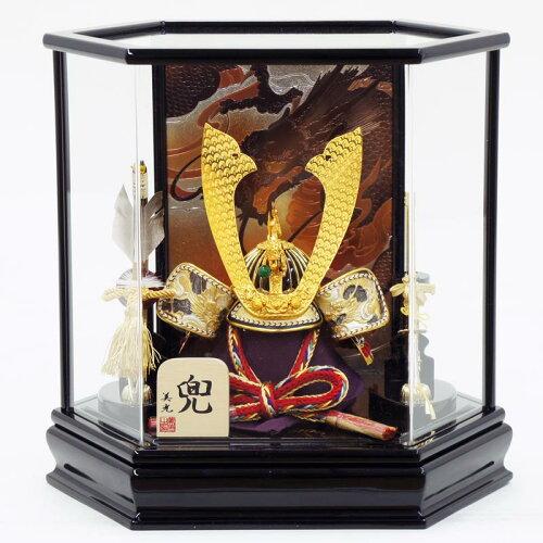 五月人形 兜 美光 『美光作 六角黒艶ケース飾り 10号兜飾り』 ≪gobk-320≫2015年 五月人形 兜 美...