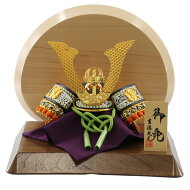 五月人形吉徳兜飾り兜飾り豆総大将高級木材使用飾り台・衝立吉徳≪GOY-113-380-WN-S≫コンパクトおしゃれ兜飾り兜五月人形