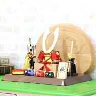 五月人形東玉木目込み兜飾り颯シリーズ「赤」高級木材使用台屏風≪GOTG-NO13-W10≫コンパクトおしゃれ木目込み五月人形