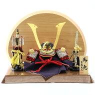 五月人形吉徳兜飾り豆11号兜長鍬形高級木材使用台屏風弓太刀セット吉徳GOY-114-676W10コンパクトおしゃれ兜飾り兜五月人形