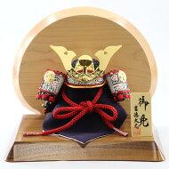 五月人形吉徳兜飾り豆11号兜大鍬形高級木材使用台屏風吉徳GOY-114-677W11コンパクトおしゃれ兜飾り兜五月人形