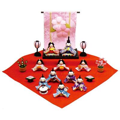 雛人形 リュウコドウ 2015年 ポイント10倍ひな人形 ちりめん雛 リュウコドウ作 雛人形雛人形 リ...