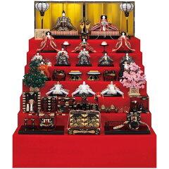雛人形 吉徳 ポイント20倍 七段飾り 京六番親王 七寸 十五人揃い 「安藤桂甫作 京雛」 雛…