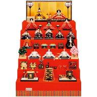 雛人形吉徳七段飾りHNY-302-095雛人形京十番親王四寸十五人揃い「江都みやび御雛」ひな人形雛三段飾り[P10]