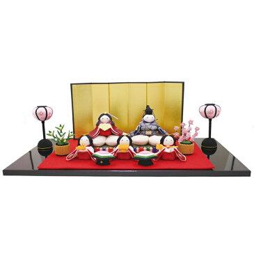 雛人形 リュウコドウ コンパクト ちりめん雛 ちりめん雛人形 桜雛5人揃い HNRK-1-710おひなさま お雛様 ひな人形 かわいい おしゃれ インテリア 雛 ひな人形 小さい ミニ [P10]