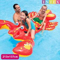フロート『ロブスターライドオン213×137cm』INTEX(インテックス)対象年齢:3歳から商品番号:swm-fl-57528子供〜大人用フロートビート板