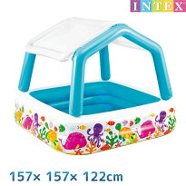 INTEX(����ƥå���)���緿��褱�դ����󥷥����ɥס�����о�ǯ��3�Ф���157×157×122cmswm-pl-57470�֤����Ҷ��ѥ٥ӡ��ס���ӥˡ���ס�������ѥס����HLS_DU�ۡڤ������б���etc��after20130610��