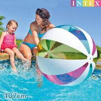 ビーチボール『ジャイアントビーチボール107cm』INTEX(インテックス)対象年齢:3歳から商品番号:swm-pt-59066ビーチで、公園で、お家で!どこでも遊べるビーチボール