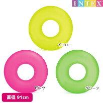 INTEX(インテックス)『ネオンフロストチューブ』対象年齢:9歳から直径91cmオレンジ、ピンク、イエローswm-uk-59262浮き輪子供〜大人用【after20130610】