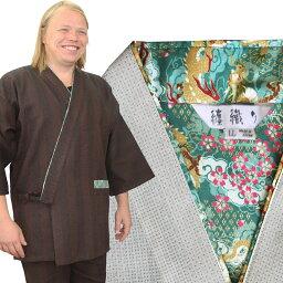 日本製 纏織 作務衣 メンズ さむえ さむい 紳士 男性用 オシャレ 少量生産 made in japan 作務衣 夏用 メンズ