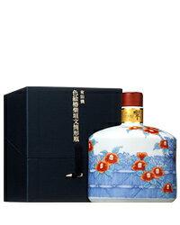 サントリーウイスキー響21年スペシャルボトルコレクション2008有田焼〈色絵椿柴垣文筒形瓶〉43度600ml