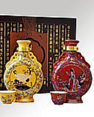 越王台陳年30年・25年花彫酒 [壺] 300ml (2本セット×4):ECHIGOYA