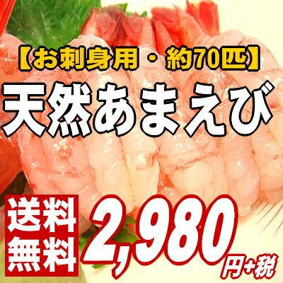 【メガ盛り♪最高級!ぷりぷりとろ〜りあま〜い】お刺身用・天然子持ちあまえび1kg《70匹前後》