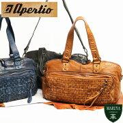 【送料無料】apertioアペルティオ:レザージャケットをイメージ。革らしさをガツンと感じる表情豊かなオイルレザーの2wayボリュームトート/革レザー本革送料無料ウォッシュ加工メンズ