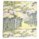 正絹全通袋帯 山喜織物〔紹巴萬葉〕581