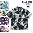 丸屋アロハ伝統の日本の浴衣柄アロハシャツM