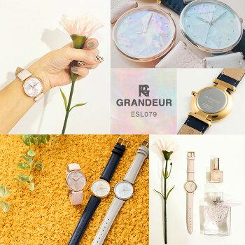 【送料無料】腕時計うす型レディースウォッチグランドールエレガンスGrandeurElaganceESL079
