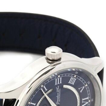 メンズ腕時計オープンハート日本製自動巻耐衝撃性耐磁性アドバンテックレザーバンドグランドールプラス革工房パーリィーコラボレーションレザーバンドグランドールプラスGRP013