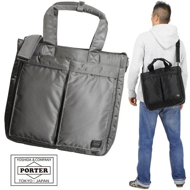 男女兼用バッグ, トートバッグ  2WAY PORTER TANKER 622-66673
