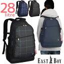 イーストボーイ リュック EASTBOY リュックサック 大容量 28リットル 全4色 スクール スクールリュック 通学 可愛い 女子 女子高生 通学リュック スクバ EBA13