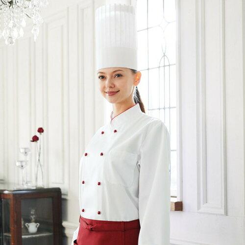 602-74 KAZEN カゼン アプロン コックコート 長袖 調理服 食品白衣 厨房 ビストロ 602-75