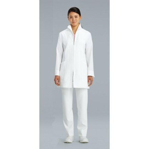 128-90 診察衣 白衣 女性 KAZEN カゼン レディース診察衣 医療白衣 看護白衣 実験着