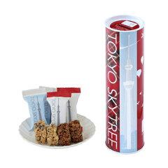 東京新名所「東京スカイツリー」の外観を映した缶に、個別に包装した2種類のチョコレートが14個...
