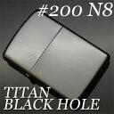 合計6000円以上で送料無料 【Zippo No.200 N8 ジッポ】 #200N8 ブラックホール ジッポー 200番 ...