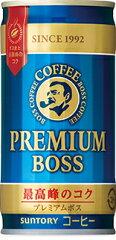 1本あたり60円《税込64.8円》【缶コーヒー】サントリー BOSS《ボス》 プレミアムボス 190g ...