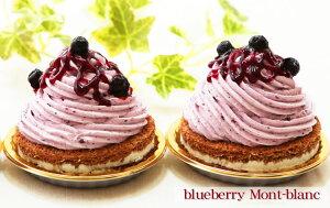 爽やかフルーツ風味とクリームチーズ♪ブルーベリーモンブラン(2個入り)