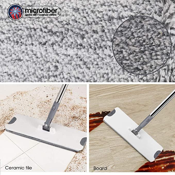 Masthomeモップパッド6枚オマケフローリングモップ業務用家庭用送料無料マイクロファイバーモップモップフロアモップフロアワイパー回転フラットモップ交換用モップ計6枚腰曲げず掃除清掃床掃除窓拭き吸水モップ