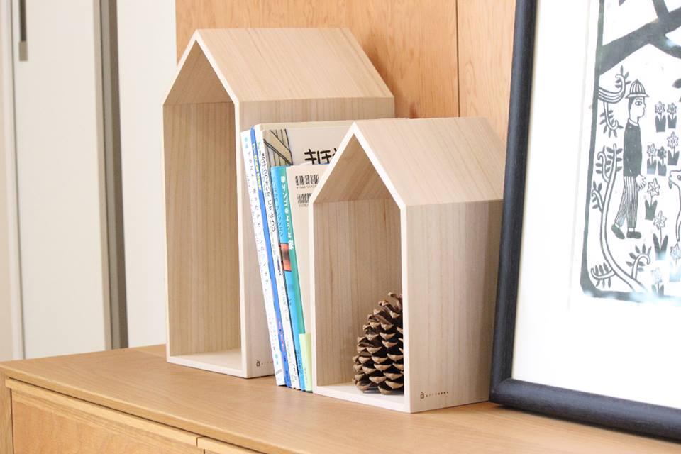 本の家【Book House】M/ブックエンド/本棚/絵本/雑誌/出産祝い/新築祝い/ブックハウス
