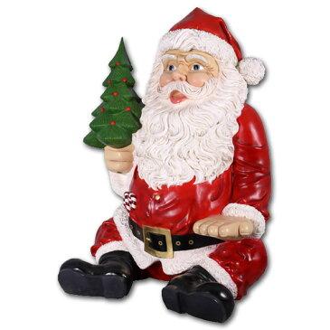 巨大な座るサンタ / Giant Sitting Santa Claus Statue強化プラスチック製アート(オブジェ)