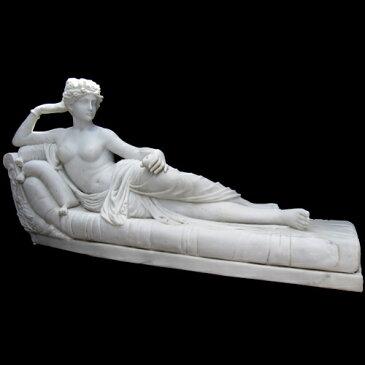 アントニオ・カノーヴァ作 天然大理石彫刻(石像) 「パオリーナ・ボルゲーゼ」の彫像