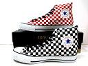 コンバース オールスター converse オールスター ブロックチェック HI ホワイト/ブラック ホワイト/レッド  CONVERSE ALL STAR BC HI メンズ レディーススニーカー