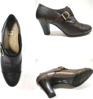 【履くほどに愛着が湧く、手放せない1足になりそう。】[イング]INGing0726レディース天然皮革ヒールパンプス甲ベルト通勤靴仕事靴ブラック・ダークブラウン・グレー(ブラウン系)