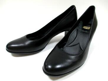 送料無料 日本製 イング ing 2640 革パンプス ING 天然皮革 プレーンパンプス フォーマル フレッシャーズ リクルート レディース ラウンドトゥ 仕事靴 通勤靴 ブラック