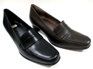 【履くほどに愛着が湧く、手放せない1足になりそう。】[イング] ING ing 2103 レディース ローファーパンプス 日本製 天然皮革 スクエアトゥ フォーマル 通勤靴 仕事靴 ブラック