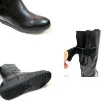 【本物志向派の方に是非お勧めしたいカジュアルブーツ!!】[ビス]ViSvis1609レディース天然皮革ハーフブーツフラットジョッキタイプカジュアル靴ラウンドトゥ通勤靴仕事靴防寒ブーツブラック・ダークブラウン