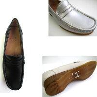[イング]【履くほどに愛着が湧く、手放せない1足になりそう。】INGing2028レディースローファーパンプスフラットソフト皮通勤靴仕事靴ブラック・シルバー・アイボリー
