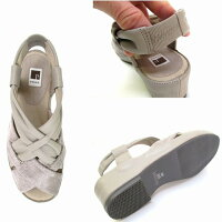 [ピサ]【履くほどに愛着が湧く、手放せない1足になりそう。】Pisazpisaz1161レディース天然皮革メッシュリゾート靴仕事靴通勤靴ブラック・グレースエード/
